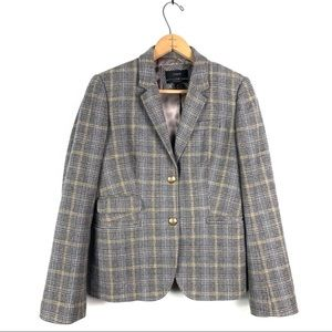 J. Crew | Gray English Plaid Schoolboy Blazer